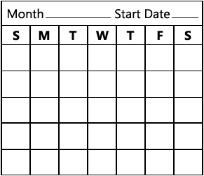 Image of a weight chart.