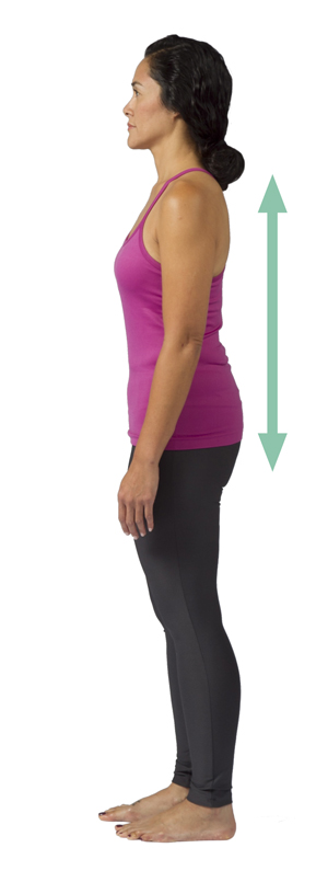 Woman standing with good posture.