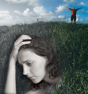 Woman feeling sad.