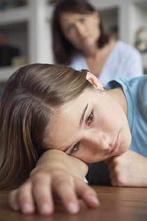 Depressed teenager.