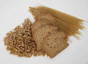 Bread, pasta, and grains.
