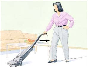 Image of woman vacuuming