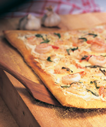 Shrip scampi pizza
